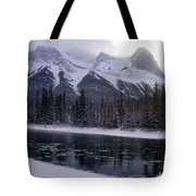 Mountain Sunset Christmas Canmore, Alberta Tote Bag