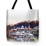 On Boathouse Row Tote Bag