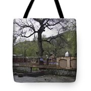 Near Entrance To Hindu Temple Of Mattan Tote Bag