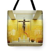 New And Modern Cathedral Of Fatima Tote Bag
