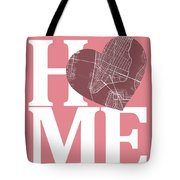 New York Map Home Heart - New York City New Yorkroad Map In A He Tote Bag
