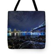 Night View To Manhattan Tote Bag