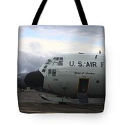 Nose Cone Detail On A Lc-130h Aircraft Tote Bag by Timm Ziegenthaler