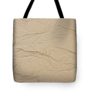 Ocean Sand Art Hearts Left Side Tote Bag