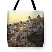 Oia At Sunset Santorini Cyclades Greece  Tote Bag