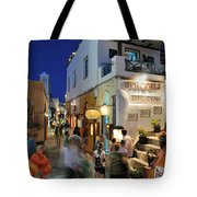 Oia Town During Dusk Time Tote Bag