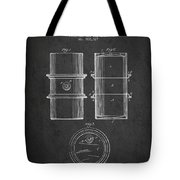 Oil Drum Patent Drawing From 1905 Tote Bag