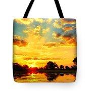 Okavango Delta Sunset Tote Bag