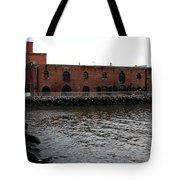 Old Brooklyn Pier Warehouse Tote Bag