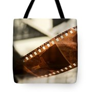 Old Film Strip And Photos Background Tote Bag