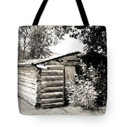 Old Log Homestead Tote Bag