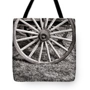 Old Wagon Wheel On Cart Tote Bag
