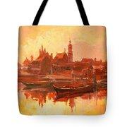 Old Warsaw - Wisla River Tote Bag