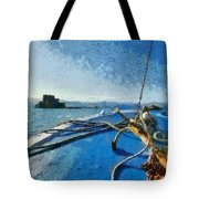 On The Way To Bourtzi Fortress Tote Bag