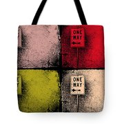 One Way Street Tote Bag