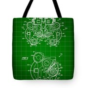Optical Refractor Patent 1985 - Green Tote Bag