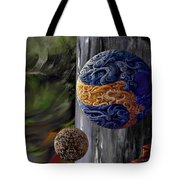 Orbs On The Stairs Tote Bag