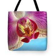 Pink Orchid Flower Details Tote Bag