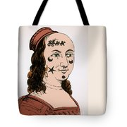 Ornamental Patches On Face 17th Century Tote Bag