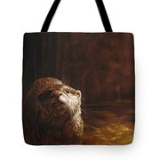 Otter Curiosity Tote Bag