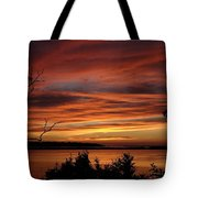Outer Banks Sunset Over Bay And Colington Island Tote Bag