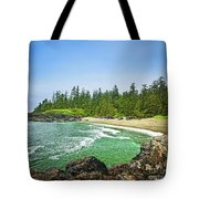 Pacific Ocean Coast On Vancouver Island Tote Bag