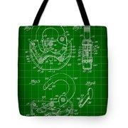 Padlock Patent 1935 - Green Tote Bag