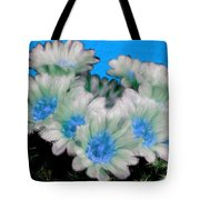 Painterly Cactus Flowers Tote Bag