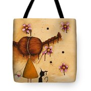 Painting Flowers Tote Bag