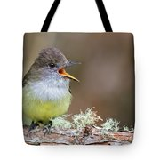 Pale-edged Flycatcher Tote Bag