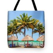 Palm Trees And Sea Tote Bag