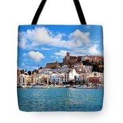 Panorama Of Ibiza Spain Tote Bag