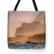 Panoramic Of Molokais North Shore Sea Tote Bag