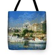 Panoramic Painting Of Pasalimani Port Tote Bag