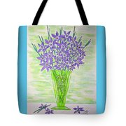 Parrot Green Depression Glass Tote Bag