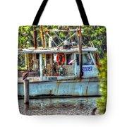 Pelican And Fishing Boat Tote Bag