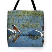 Pelicans In Hayden Valley Tote Bag