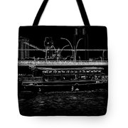 Pencil - Colorful River Cruise Boat In Singapore Next To A Bridge Tote Bag