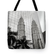 Petronas Towers Reflection Tote Bag