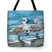 Pier Gulls Tote Bag