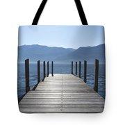 Pier On An Alpine Lake Tote Bag