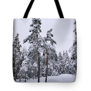 Pine Forest Winter Tote Bag