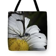 Pine White Butterfly Tote Bag