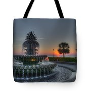 Pineapple Sunrise Tote Bag