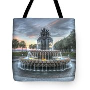 Majestic Sunset In Waterfront Park Tote Bag