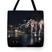 Pittsburgh Fireworks At Night Tote Bag