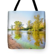 Plants And Trees Close To The River Tote Bag