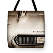 Plymouth Barracuda Grille Emblem Tote Bag