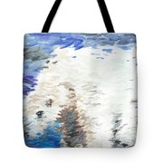 Polar Bear Reflection Tote Bag