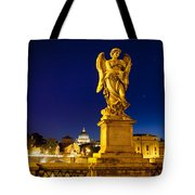 Ponte Sant Angelo Tote Bag by Brian Jannsen